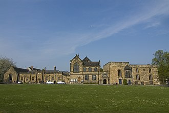Durham School - Palace Green outside Durham Cathedral showing the location (left side of image) of Durham School from 1661 to 1844.