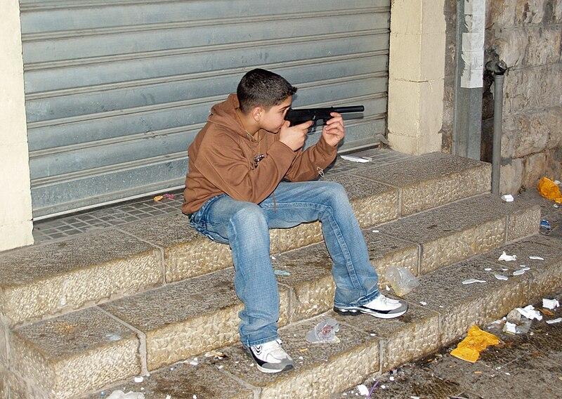 File:Palestinian boy with toy gun in Nazareth by David Shankbone.jpg