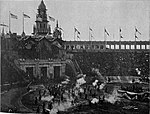 Pan-American Exposition - A Sham Battle in the Stadium.jpg