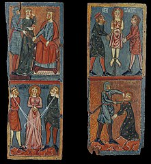 Panels with scenes of the Martyrdom of Saint Lucy