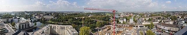 Panorama Mülheim vom Rathausturm Richtung NW 2014.jpg