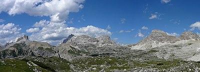 Panorama di alcune cime delle Dolomiti di Sesto