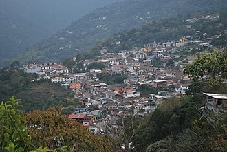 Pahuatlán - Panoramic of the town of Pahuatlán