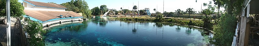Panoramic picture of Weeki Wachee Springs, Florida, April 2012