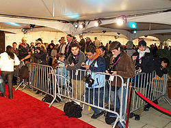 Paparazzi at the Tribeca Film Festival