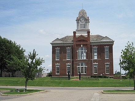 The former Greene County Courthouse is one of twelve sites in Paragould listed on the National Register of Historic Places. Paragould AR 2011 06 23 003.jpg