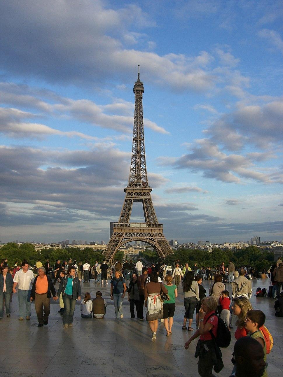 Paris Parvis des Droits de l'homme towards Eiffel Tower