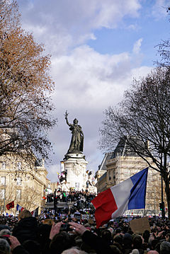 Paris Rally, 11 January 2015 - Monument à la République - 04.jpg