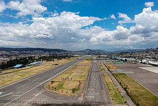 Old Mariscal Sucre International Airport international airport serving Quito, Ecuador, starting operations 1960