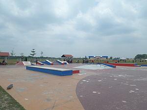 Skatepark - Pasir Gudang Skate Park in Johor, Malaysia.