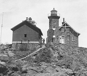 Passage Island Light - Undated USCG photo of the station