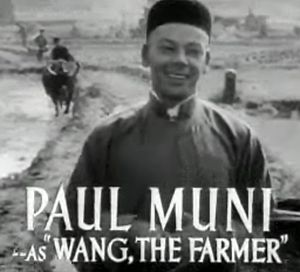 The Good Earth (film) - Image: Paul Muni in The Good Earth trailer 2