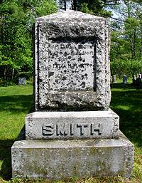 Paul Smith's gravestone - Paul Smiths NY.jpg