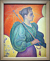 Paul signac, donna con l'ombrello, 1893, 01.JPG