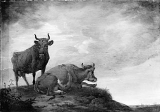 Two Cows on a Hill