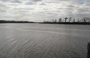 Simon Favre - Pearl River from Favre's former plantation, now Pearlington, Mississippi