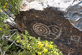 South Mountains (Arizona) - One of many petroglyphs in South Mountain Park