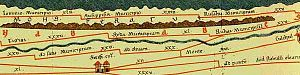 Sétif - Detail of the Tabula Peutingeriana map (4th century showing Sitifi Colonia (Sétif)