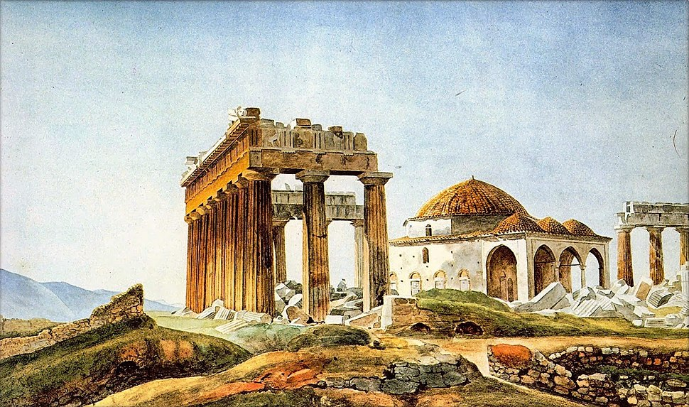 Peytier - Mosque in the Parthenon