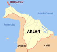 The location of Boracay