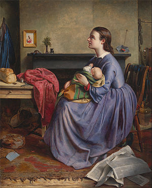 "1855 in art - Image: Philip Hermogenes Calderon ""Lord, Thy Will Be Done"" Google Art Project"