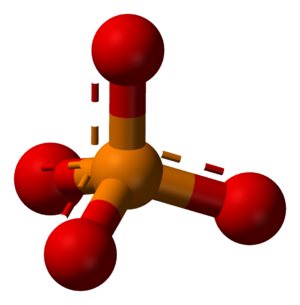 Phosphatase - A ball and stick model of a phosphate anion.
