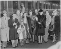 Photograph of movie stars arriving in Washington to participate in Roosevelt Birthday Ball activities at the White... - NARA - 199312.tif