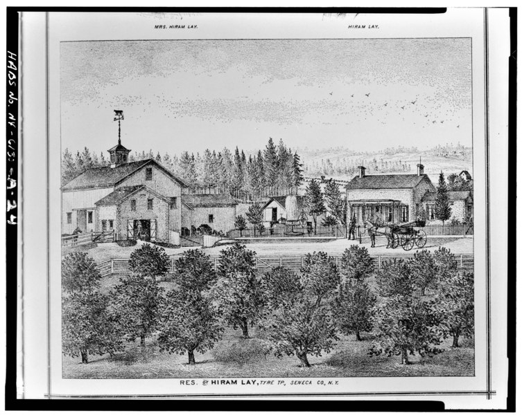 File:Photographic copy of engraving (from History of Seneca County, New York, Everts, Ensign, and Everts, Philadelphia, 1876, p. 128) CARRIAGE HOUSE, BARN, PADDOCK, PIGGERY, AND FARM HABS NY,50-TYRE,1A-24.tif