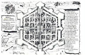 Avola - 1756 print showing the layout of Avola.