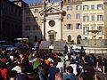 Piazza Farnese protesta università 22 ottobre 2008.JPG