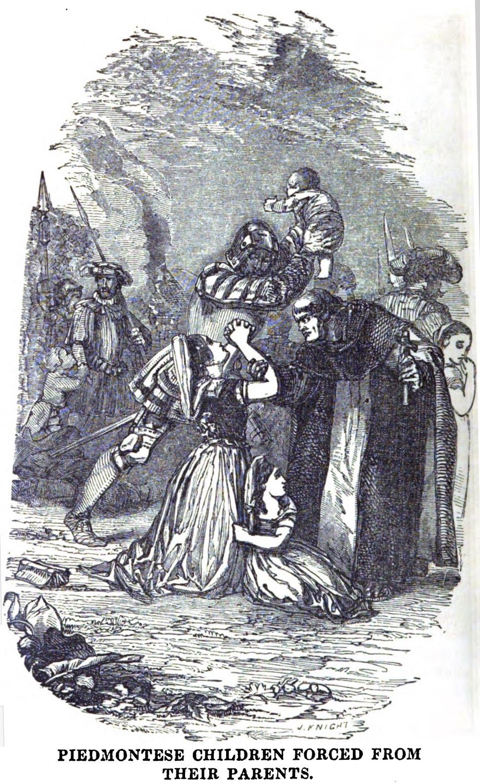 Piedmontese Children Forced from their parents (October 1853, X, p.108)