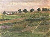 Piet Mondriaan - Fields overlooking Arnhem from the north - A284 - Piet Mondrian, catalogue raisonné.jpg