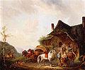 Pieter van Os Horsemen and travellers outside an inn.jpg