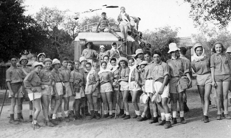 גן-שמואל-יציאה לטיול בנגב 1950