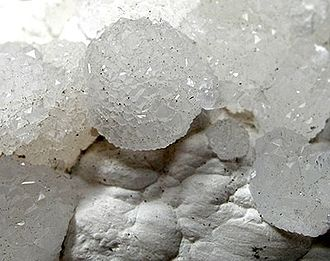 Pinnoite - Pinnoite clusters from a salt dome in the Atyrau Oblast, Kazakhstan