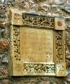 Placa en el Castillo-Palacio de Piera a Ramon de Viala, Barón de Almenar.png