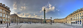 Place Vendôme square in Paris, France