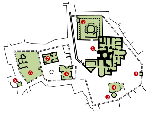 Plan of the Complex of The Palace of the Shirvanshahs.png
