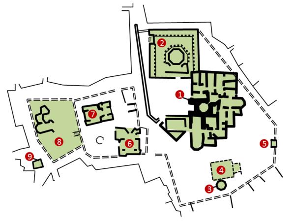 Şirvanşahlar saray kompleksinin planı