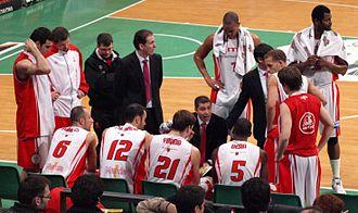 CB Murcia - A timeout in the 2008–09 season.