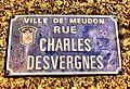 Plaques de la rue Charles Desvergnes - Meudon - France.jpg