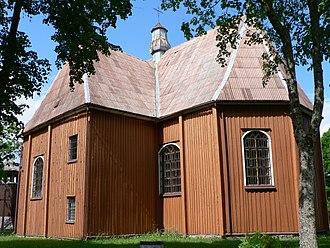 Plateliai - St. Peter and Paul church in Plateliai, 1744