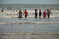 Playful People with Sea Waves - New Digha Beach - East Midnapore 2015-05-01 8833.JPG