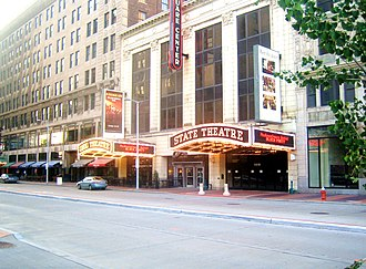 Euclid Avenue (Cleveland) - Playhouse Square faces Euclid Avenue.