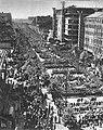 Pochód pierwszomajowy w Alejach Jerozolimskich w Warszawie 1950.jpg