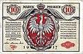 Polish banknote from 1917 - 10 Marek Polskich.jpg