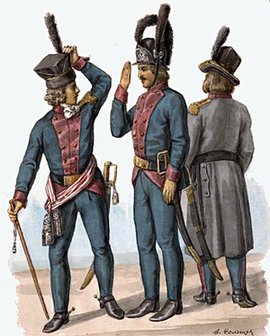 Polish–Russian War of 1792 - Polish soldiers of 3rd Lithuanian Infantry Regiment in 1792
