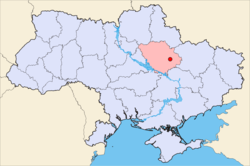 Location of Poltava in Ukraine