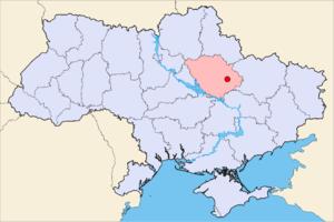 Полтава на мапі України