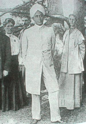 Ceylonese Mudaliyars -  Ponnanbalam Ramanathan in 1906 with his future wife Ms. Harrison (right). Several members of the family were married to western women.